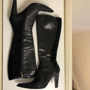 Angela Falconi  leather & suede Italian knee boots